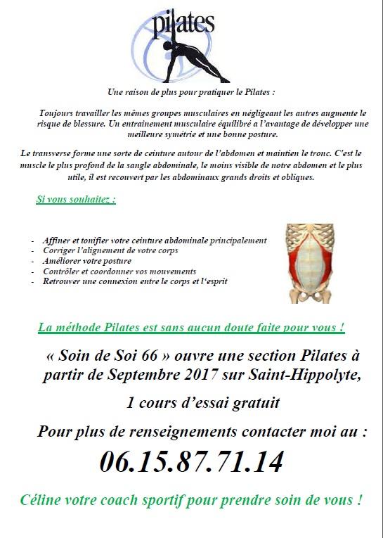 Cours de pilates st hippolyte